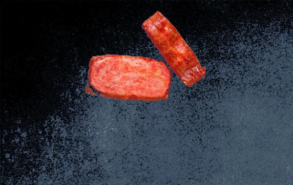 Рулет из филе лосося горячего копчения