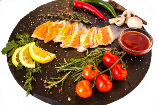 Плавники лосося соленые