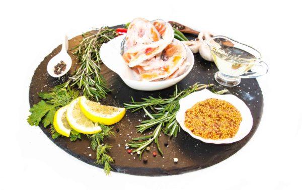 Приголовки лосося соленые